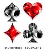 set of polygonal  shiny ...   Shutterstock .eps vector #690891541