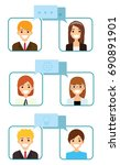 vector set of business people... | Shutterstock .eps vector #690891901