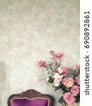 vintage old wall background... | Shutterstock . vector #690892861