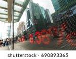 display of stock market quotes    Shutterstock . vector #690893365
