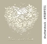 floral card wedding backgrounds | Shutterstock .eps vector #69089551