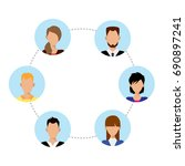 flat business people social... | Shutterstock .eps vector #690897241