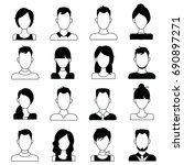 character or people avatar...   Shutterstock .eps vector #690897271
