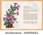 flowers in a pot on light... | Shutterstock .eps vector #69090463