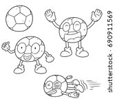 vector set of soccer | Shutterstock .eps vector #690911569