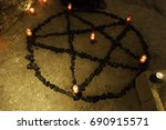 Pentacle Satanic With Candles...
