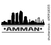 amman skyline silhouette city...