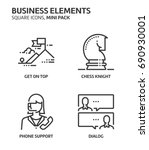 business elements  square mini... | Shutterstock .eps vector #690930001