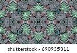seamless striped vector pattern.... | Shutterstock .eps vector #690935311