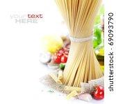 italian pasta with tomatoes ... | Shutterstock . vector #69093790