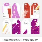 hand drawn creative tags.... | Shutterstock .eps vector #690940249
