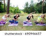 fitness  yoga  sport  training  ...   Shutterstock . vector #690946657