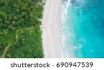 sea aerial view top view... | Shutterstock . vector #690947539