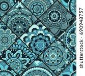 seamless pattern. vintage... | Shutterstock .eps vector #690948757