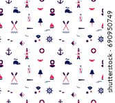 seamless texture from sailing... | Shutterstock .eps vector #690950749