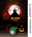 nice abstract for haunted...   Shutterstock .eps vector #690950779