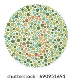 ishihara color test color blind ... | Shutterstock .eps vector #690951691
