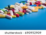 colored pills and medical