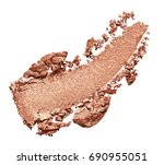 bronze eye shadow stroke... | Shutterstock . vector #690955051