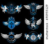 vintage heraldry design...   Shutterstock .eps vector #690955129