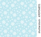 seamless winter background with ... | Shutterstock .eps vector #690956851