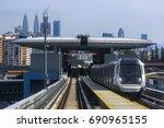malaysia mrt  mass rapid... | Shutterstock . vector #690965155