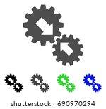 integration gears flat vector...   Shutterstock .eps vector #690970294