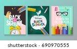 back to school banner design... | Shutterstock .eps vector #690970555