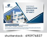 vector brochure  flyer ... | Shutterstock .eps vector #690976837