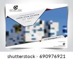 vector brochure  flyer ... | Shutterstock .eps vector #690976921