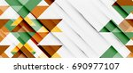 triangle pattern design... | Shutterstock .eps vector #690977107