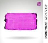 purple brush stroke and texture.... | Shutterstock .eps vector #690979519