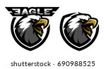head of the eagle  sport logo.... | Shutterstock .eps vector #690988525