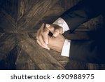 business negotiation skills... | Shutterstock . vector #690988975