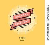 sale  flat design thin line... | Shutterstock .eps vector #690992017