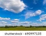 beautiful summer landscape | Shutterstock . vector #690997135
