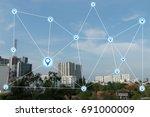 modern and wireless sensor... | Shutterstock . vector #691000009
