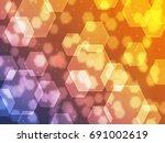 beautiful bokeh hexagon | Shutterstock . vector #691002619