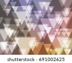 designt bokeh triangle | Shutterstock . vector #691002625