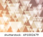 gold bokeh triangle | Shutterstock . vector #691002679