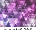 disco bokeh triangle | Shutterstock . vector #691002691