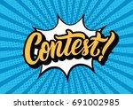contest lettering text banner.... | Shutterstock .eps vector #691002985