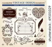 calligraphic elements vintage... | Shutterstock .eps vector #69101029