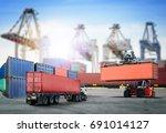 logistics import export...   Shutterstock . vector #691014127