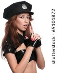 young beautiful police woman... | Shutterstock . vector #69101872