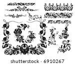 floral elements | Shutterstock .eps vector #6910267