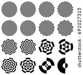 set of optical circles.... | Shutterstock .eps vector #691027315