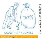 growth of business. small... | Shutterstock .eps vector #691028719