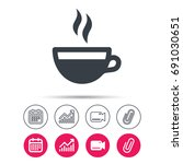 coffee cup icon. hot tea drink... | Shutterstock .eps vector #691030651