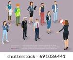 flat design 3d isometric... | Shutterstock .eps vector #691036441